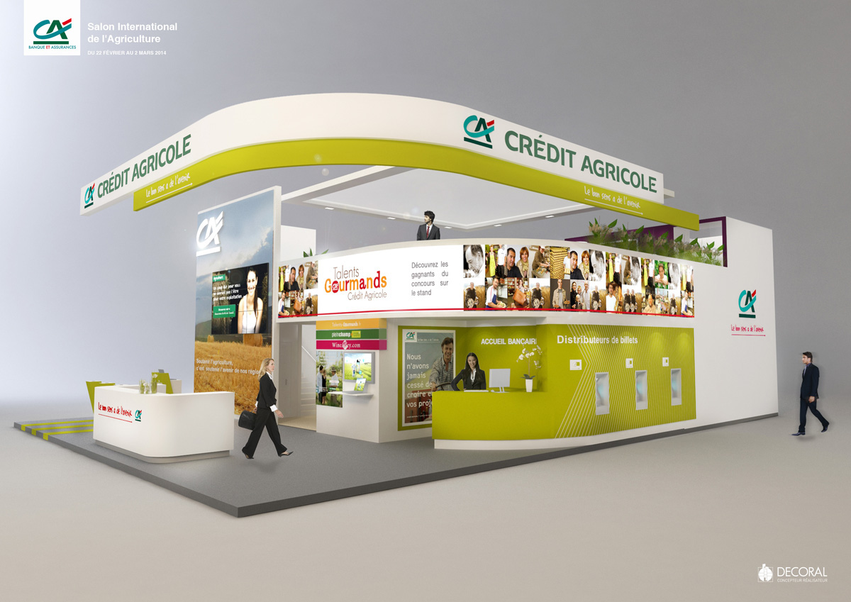 Billet Salon Agriculture Stand Credit Agricole Salon De L Agriculture 2014 On Behance