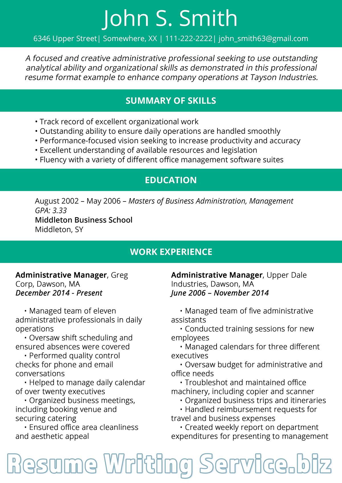 how should a resume look like