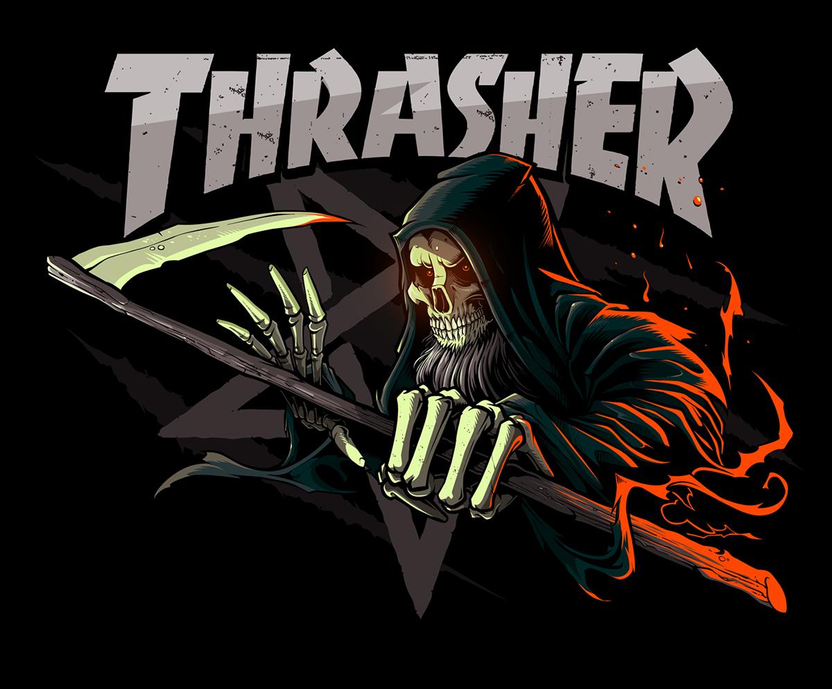 Girl Skateboards Wallpaper Desktop Thrasher Magazine Grim Reaper Concept On Behance