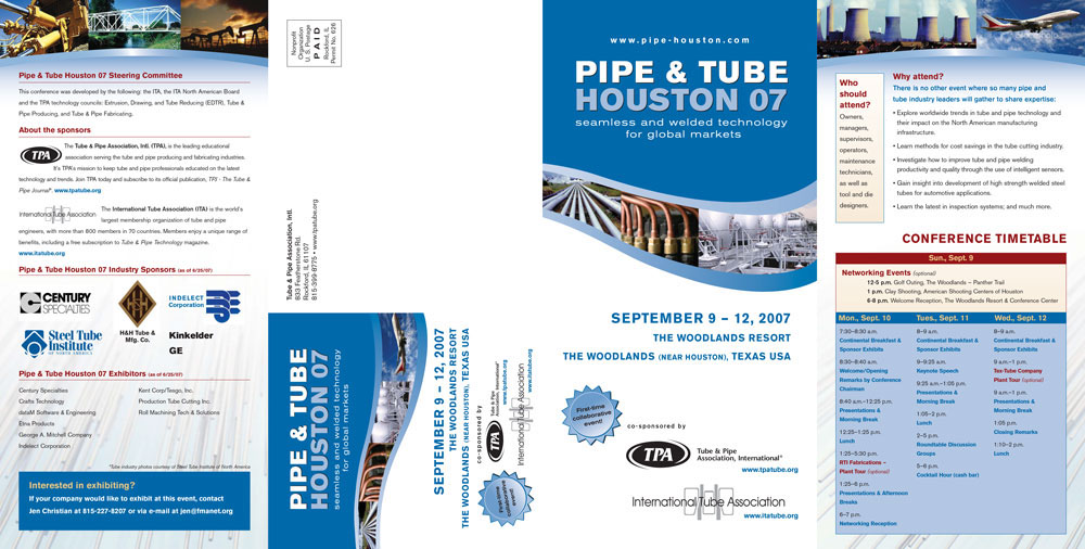 Jen Egan Design - Tube  Pipe Conference Promotion