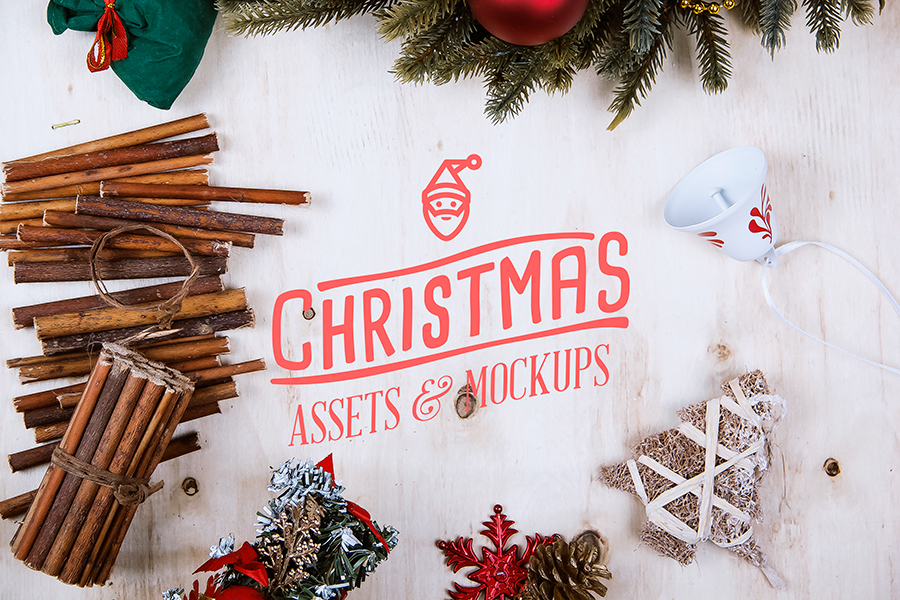 3d Winter Wallpaper Free Christmas Assets Amp Mock Up Pack On Behance