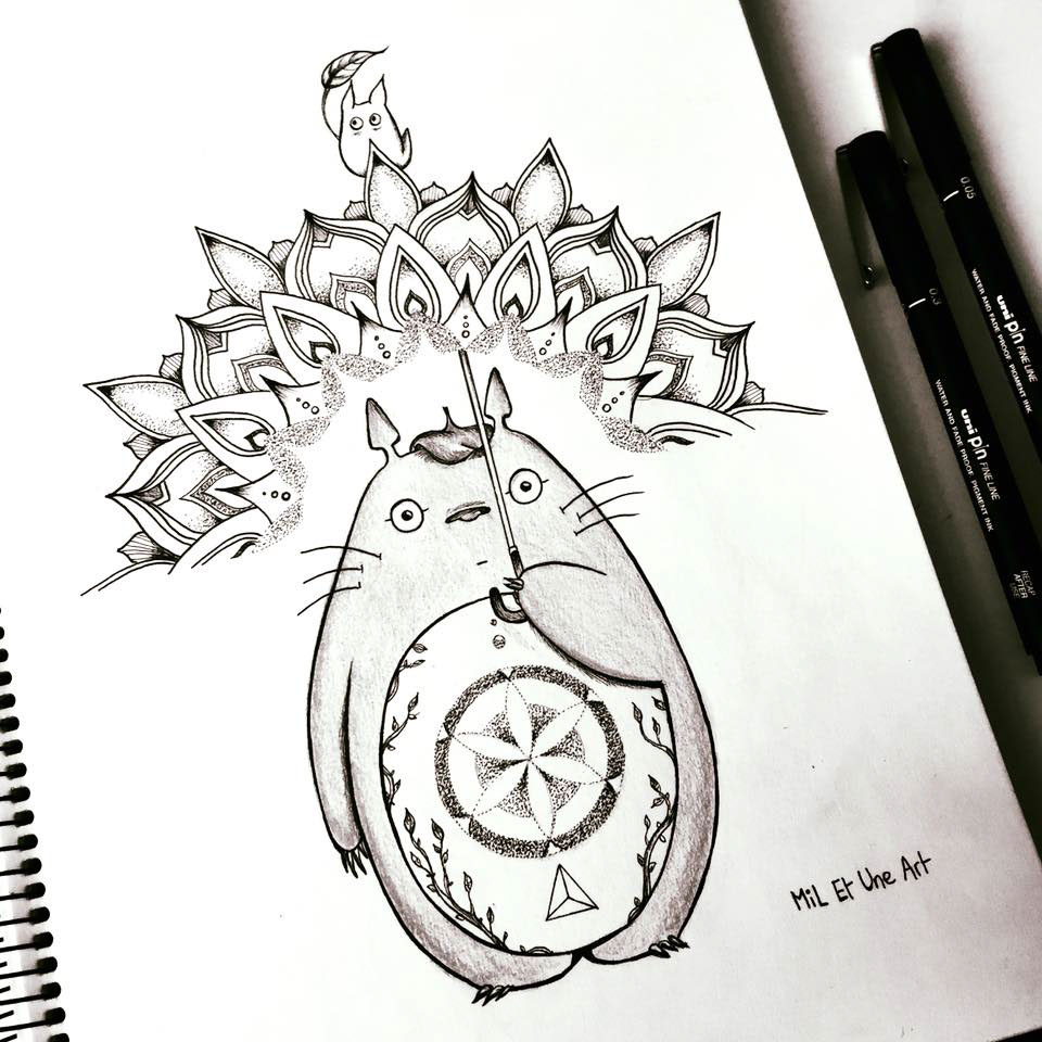 Cute Totoro Wallpaper Totoro Tattoo Design On Behance