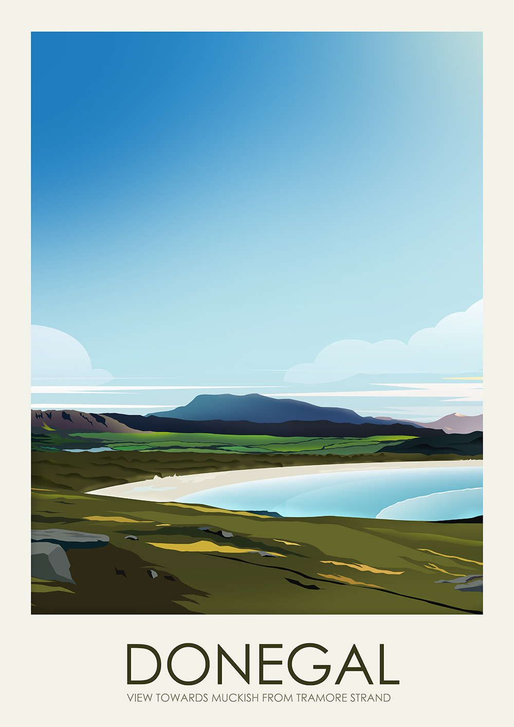 Poster Strand Travel Poster Series Donegal On Behance
