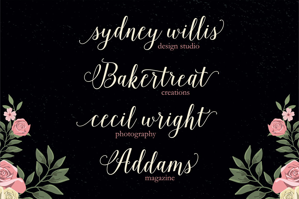 Copperplate Calligraphy Font Free Isabella Script On Behance