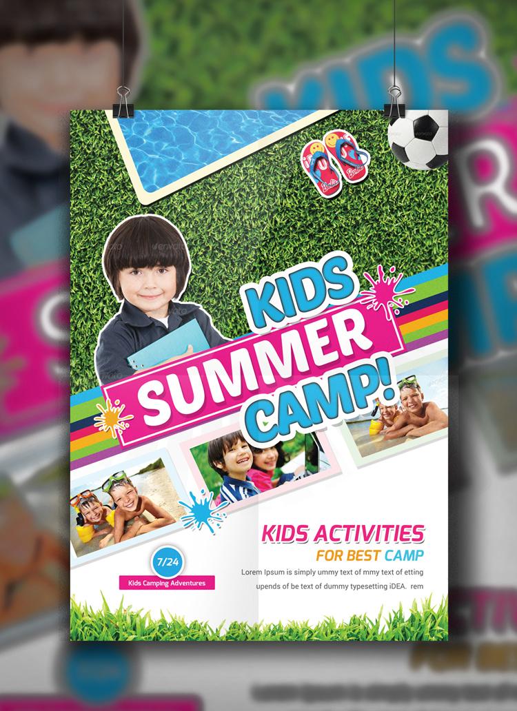 Kids Summer Camp Flyer Template on Behance