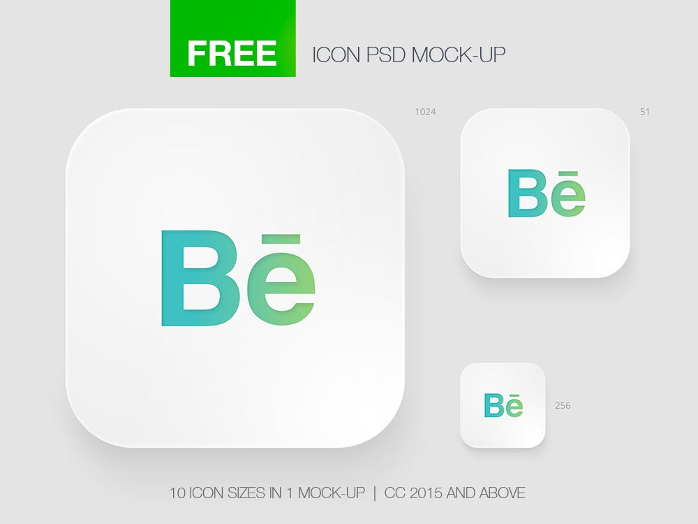 Free Icon App Mock-Up on Behance