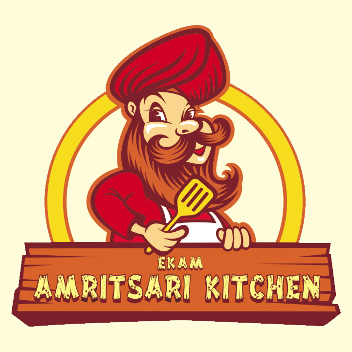 Logo-mascot design - Ekam Amritsari kitchen Restaurant on Behance