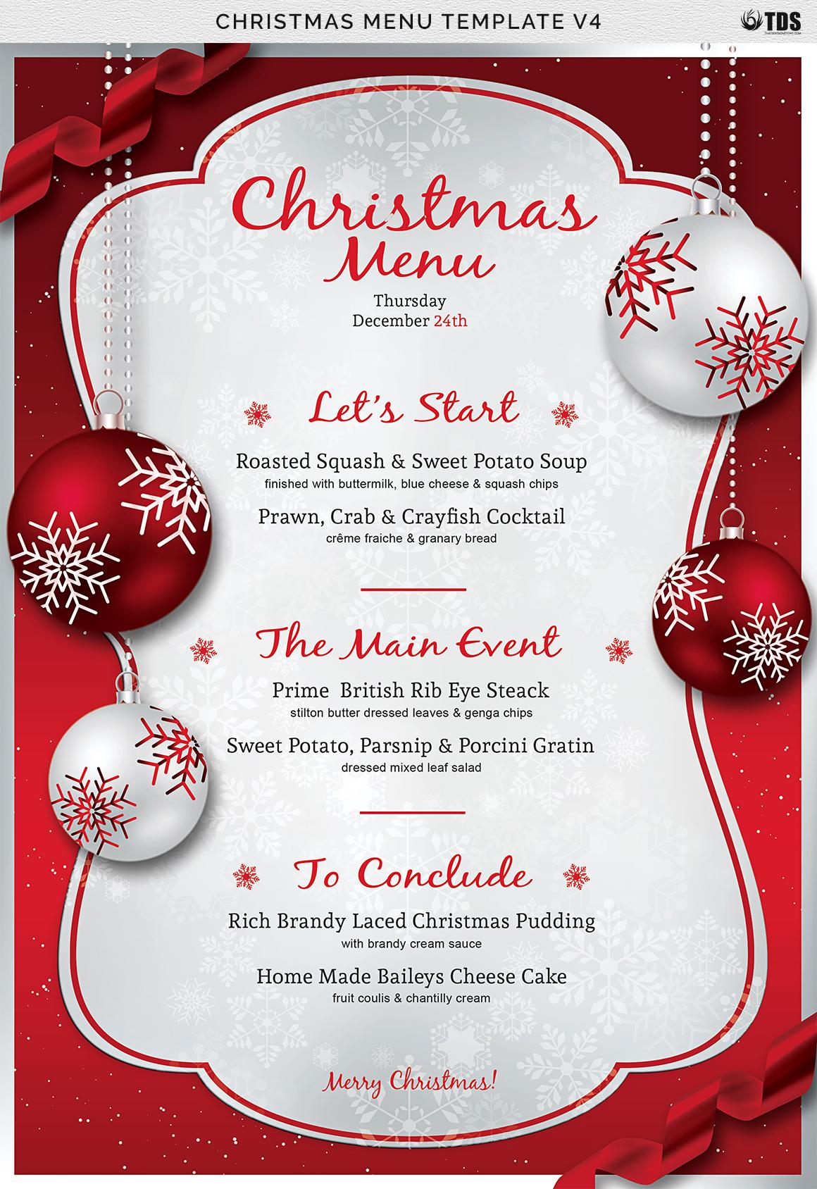 template for christmas