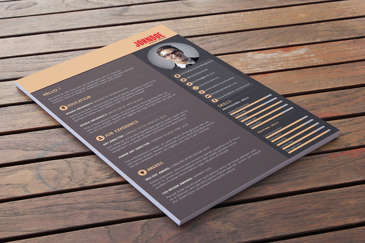 material resume template free