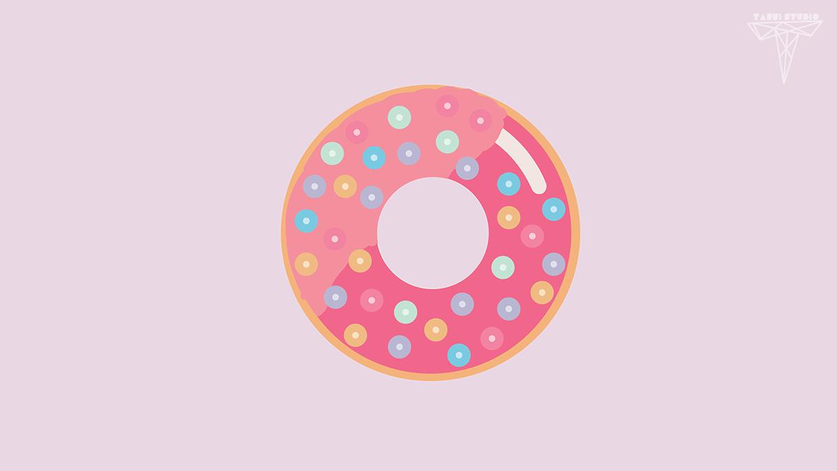 Kawaii Fall Wallpaper Kawaii Donut Wallpaper On Behance