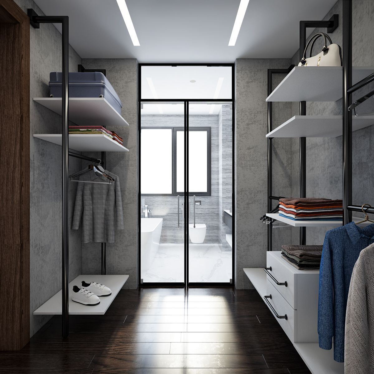 Modern Industrial Bedroom Modern Industrial Bedroom And Bathroom For Hsi On Behance