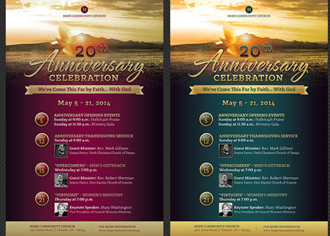 Church Anniversary Flyer and Poster Template on Behance - anniversary flyer