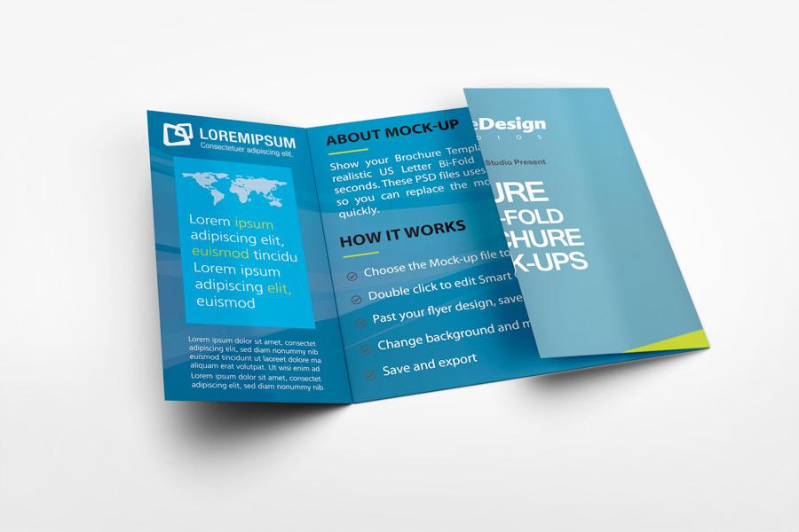 Square Gate Fold Brochure Mockup on Behance - gate fold brochure mockup