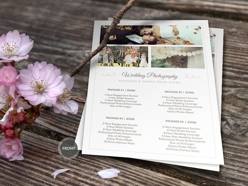 Wedding Photographer Pricing Guide PSD Template v3 on Behance - wedding price list