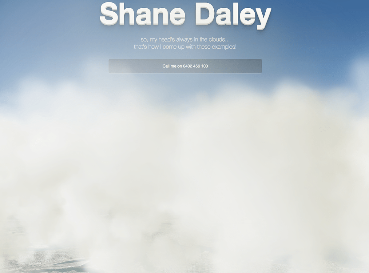 Javascript Cloud Html5 Animated Clouds On Behance