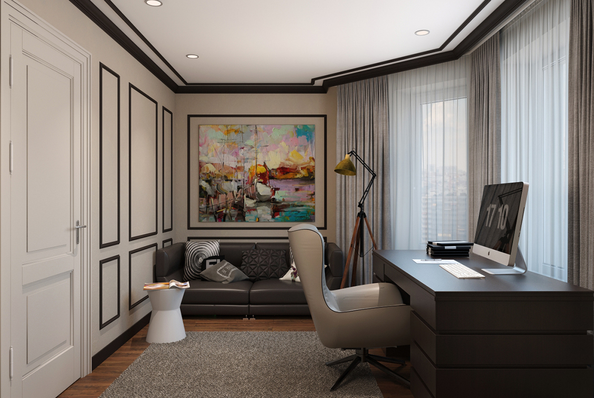 Home Office Club Modern Classic Interior Design Home Office Designs On Behance