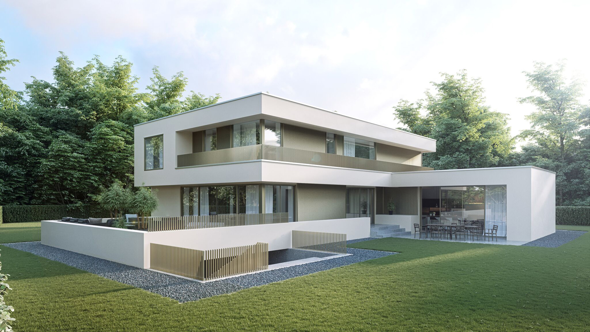 Bauhaus Villa Architectural Visualization Bauhaus Villa On Behance