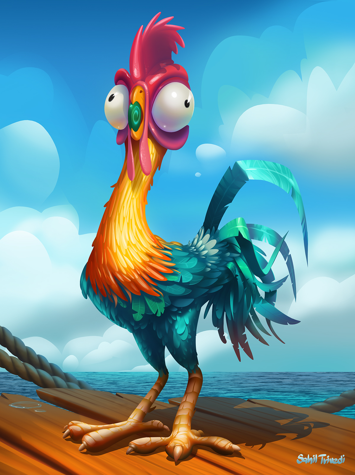 Animation Movie Wallpaper Hei Hei Chicken From Moana On Behance
