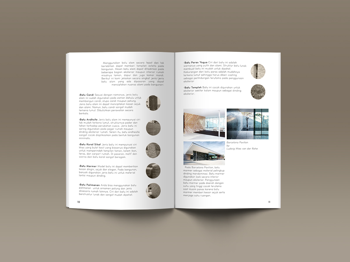 Blue Print Rumah Minimalis Materials In Architecture Booklet On Behance