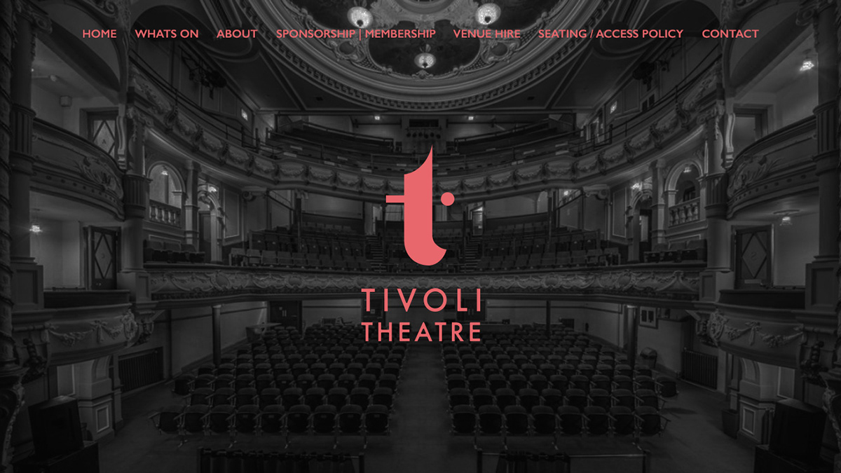 Tickets For Tivoli Theatre Aberdeen Tivoli Theatre Landing Page On Behance