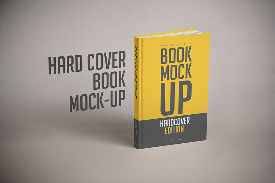 Hardcover Book Mock-up Template PSD on Behance