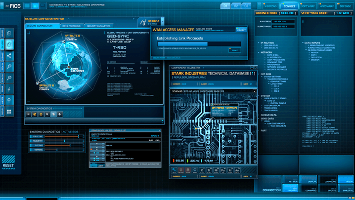 3d Hologram Wallpaper Gif Iron Man 3 On Behance