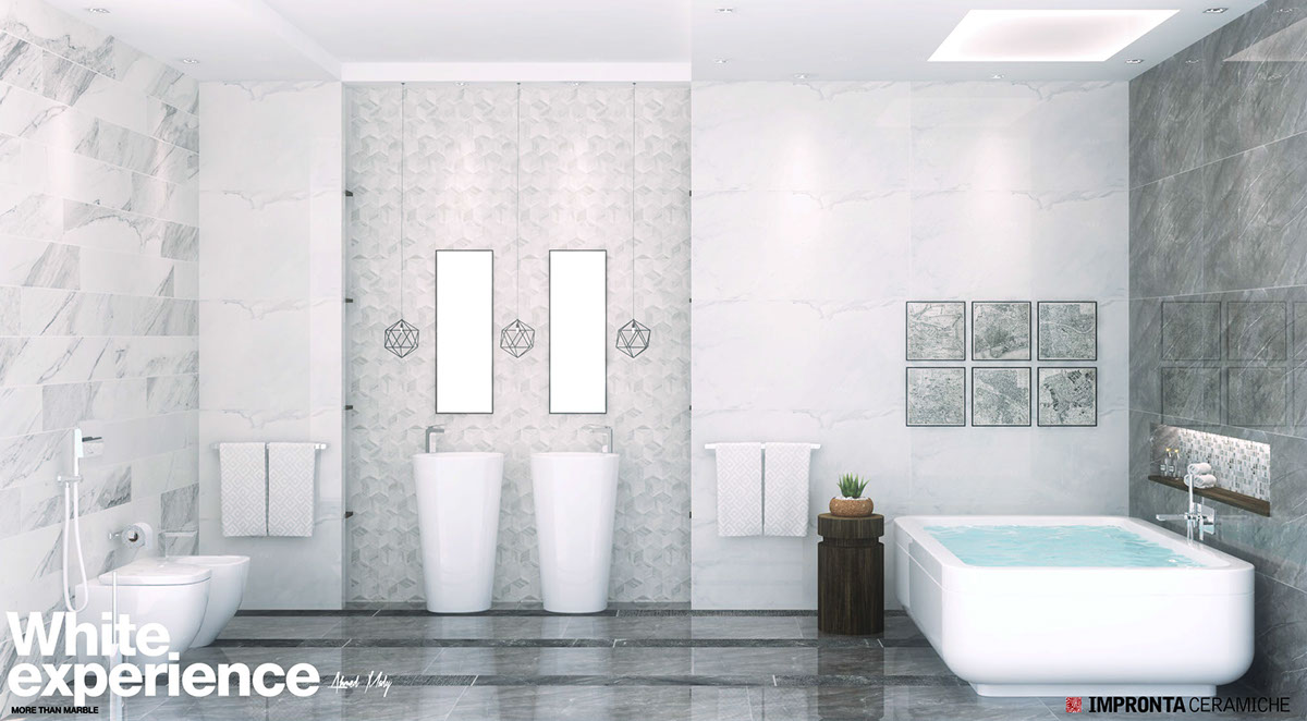 Piastrelle Naxos Lithos Bathroom Impronta White Experience It On Behance