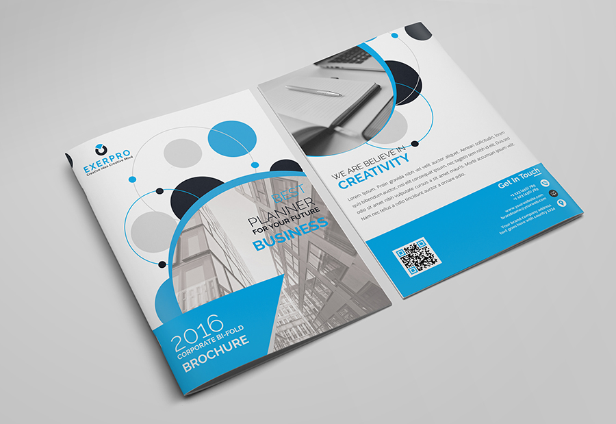 Corporate Bifold Brochure Template on Behance