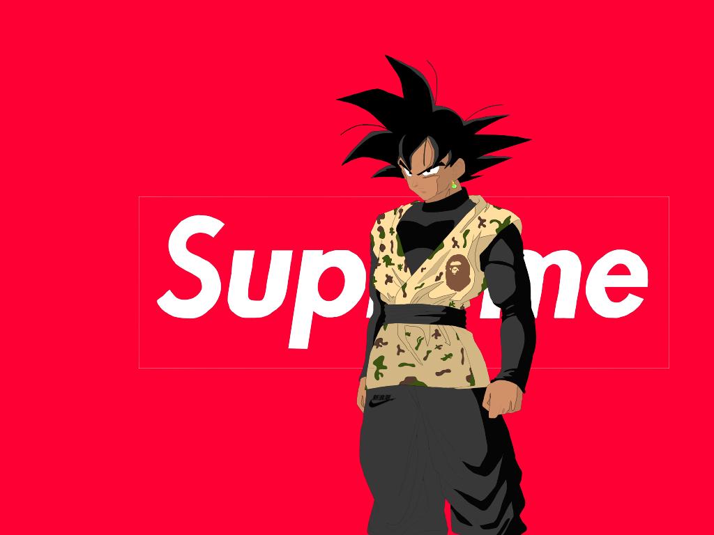 Kanye West Iphone Wallpaper Supreme Bathing Ape X Goku⚡️ On Behance