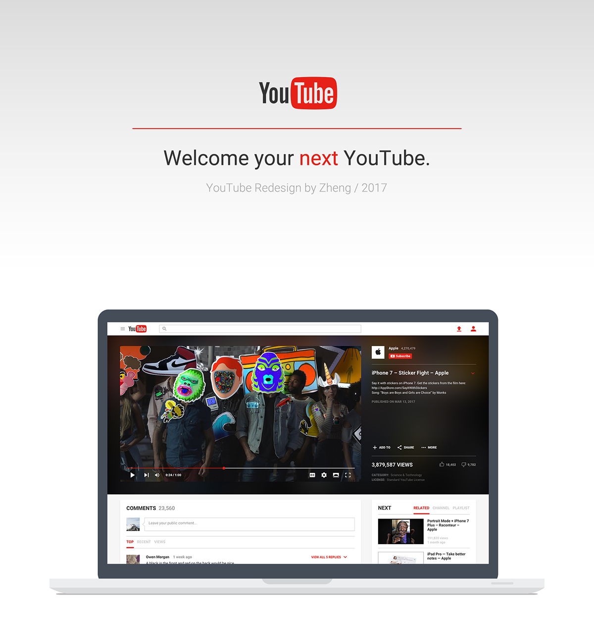 Bad Design Youtube Youtube Redesign On Student Show
