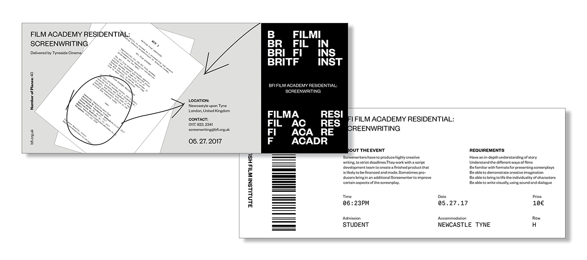 BRITISH FILM INSTITUTE on Behance - work request form