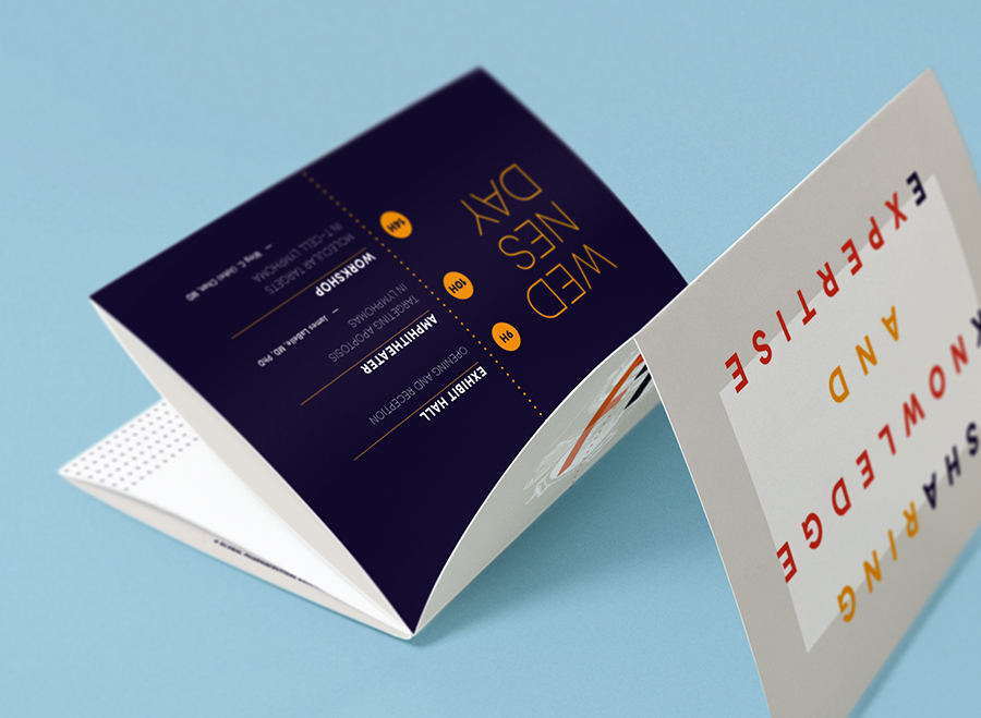 BRISOL MYERS SQUIBB event branding materials on Behance