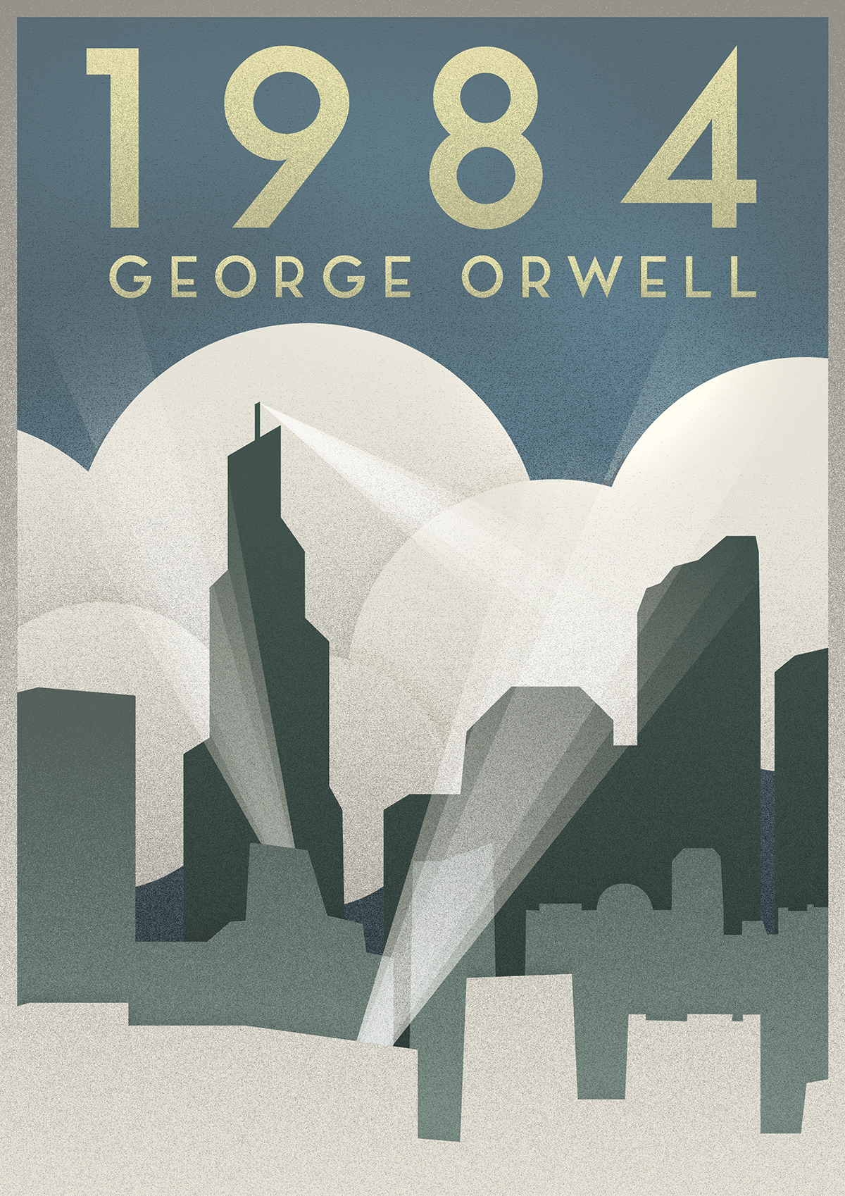 Deco Poster George Orwell 1984 Art Deco Poster On Behance