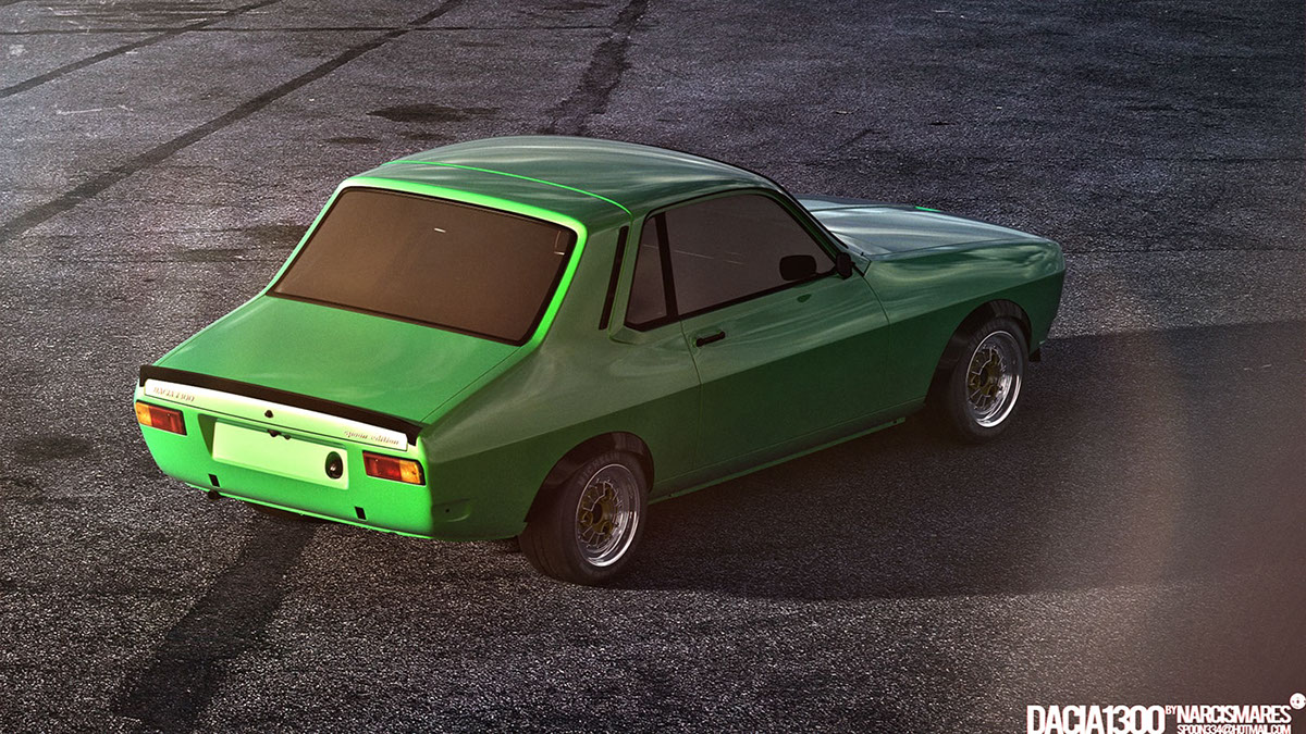 Dacia Coupe Dacia 1300 Spoon Edition 2015 On Behance