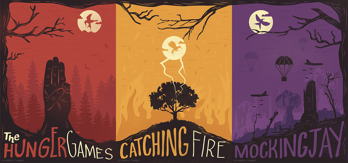 The Hunger Games Trilogy Triptych Covers on Behance