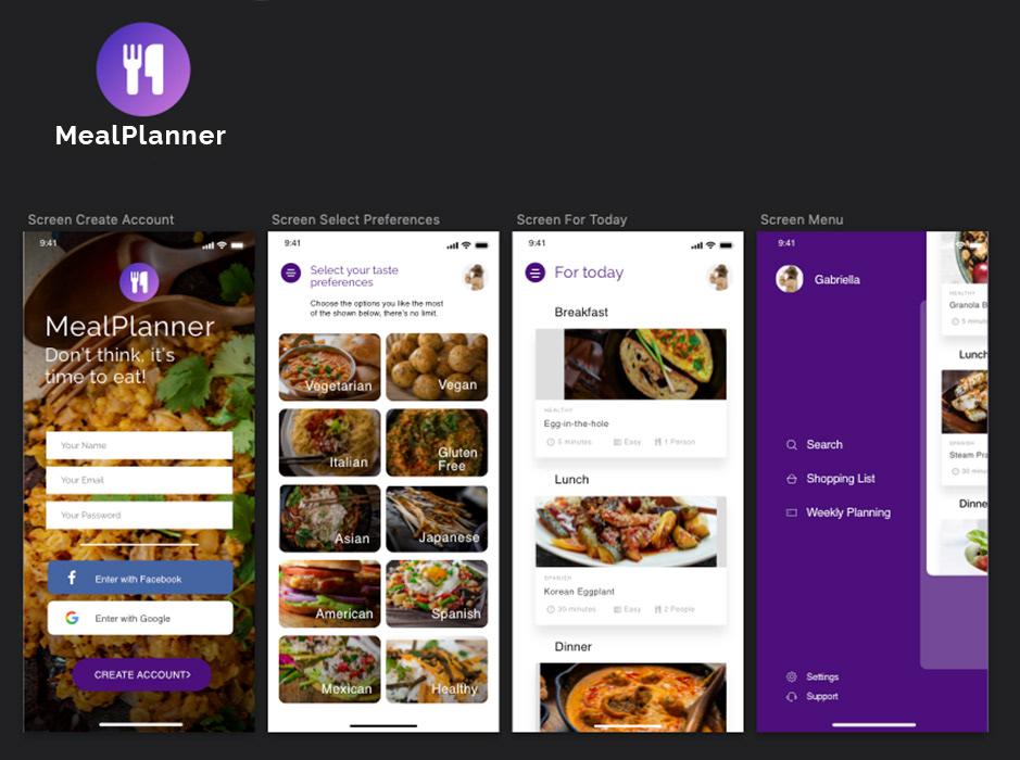 Meal Planner App Concept on Behance