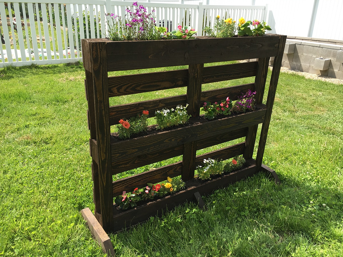 Groovy Handmade Herb Flower Gardens Made From Wooden Se Freestandinggardens H About Small Plants Allowing Root Pallet Gardens On Behance Pallet Planter Images garden Pallet Gardens Images