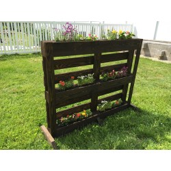 Groovy Handmade Herb Flower Gardens Made From Wooden Se Freestandinggardens H About Small Plants Allowing Root Pallet Gardens On Behance Pallet Planter Images