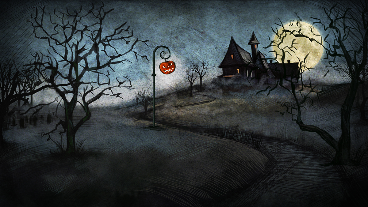 Fall Scarecrow Wallpaper Halloween Landscape On Behance