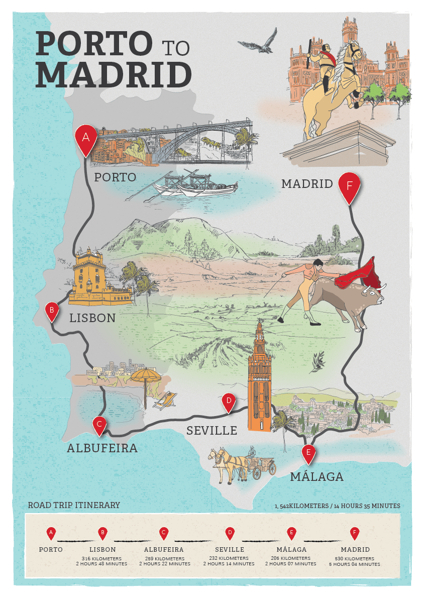 Avis Malaga Avis Illustrated Map On Behance