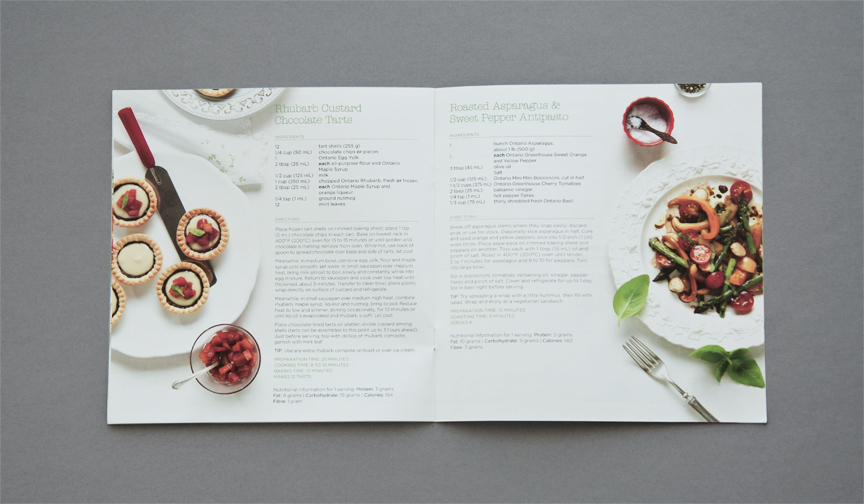 FOODLAND SPRING RECIPE BOOK 2012 on Behance - food brochure