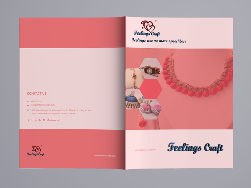 Catalogue front  back page Design on Behance
