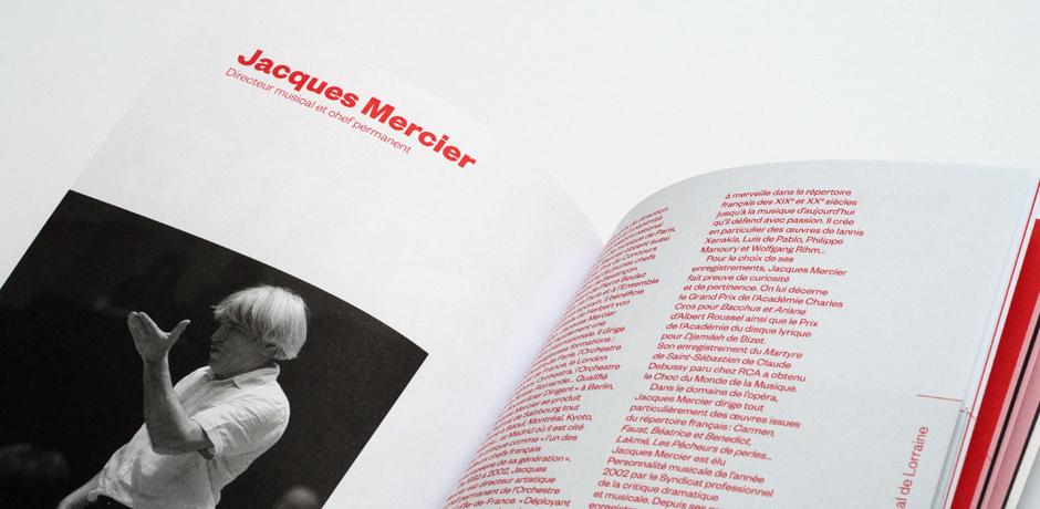 Orchestre national de Lorraine on Behance - music brochure