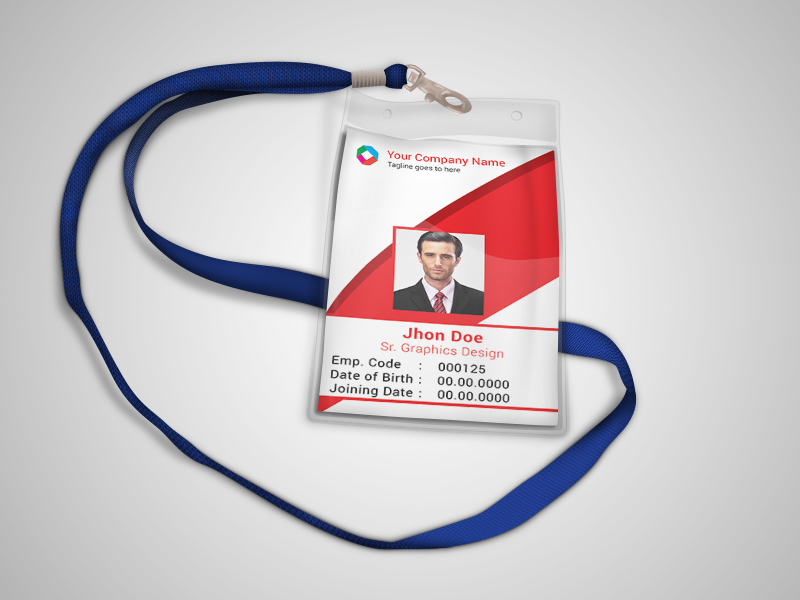 Corporate official ID card template (Freebie) on Behance