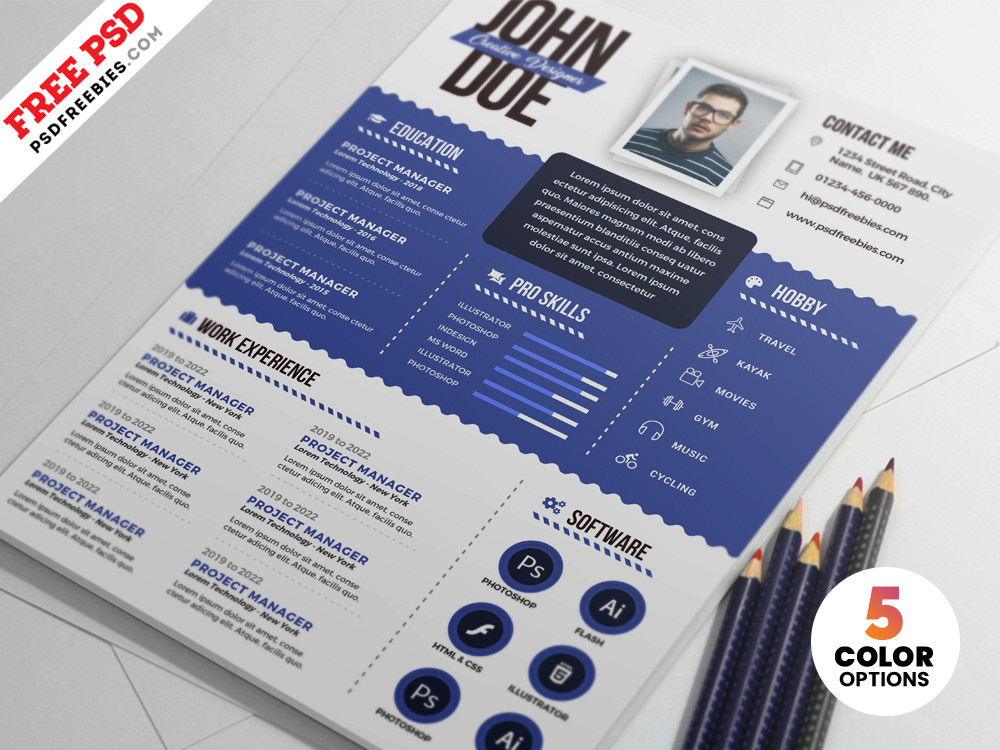 Graphic Designer Resume PSD Templates on Behance