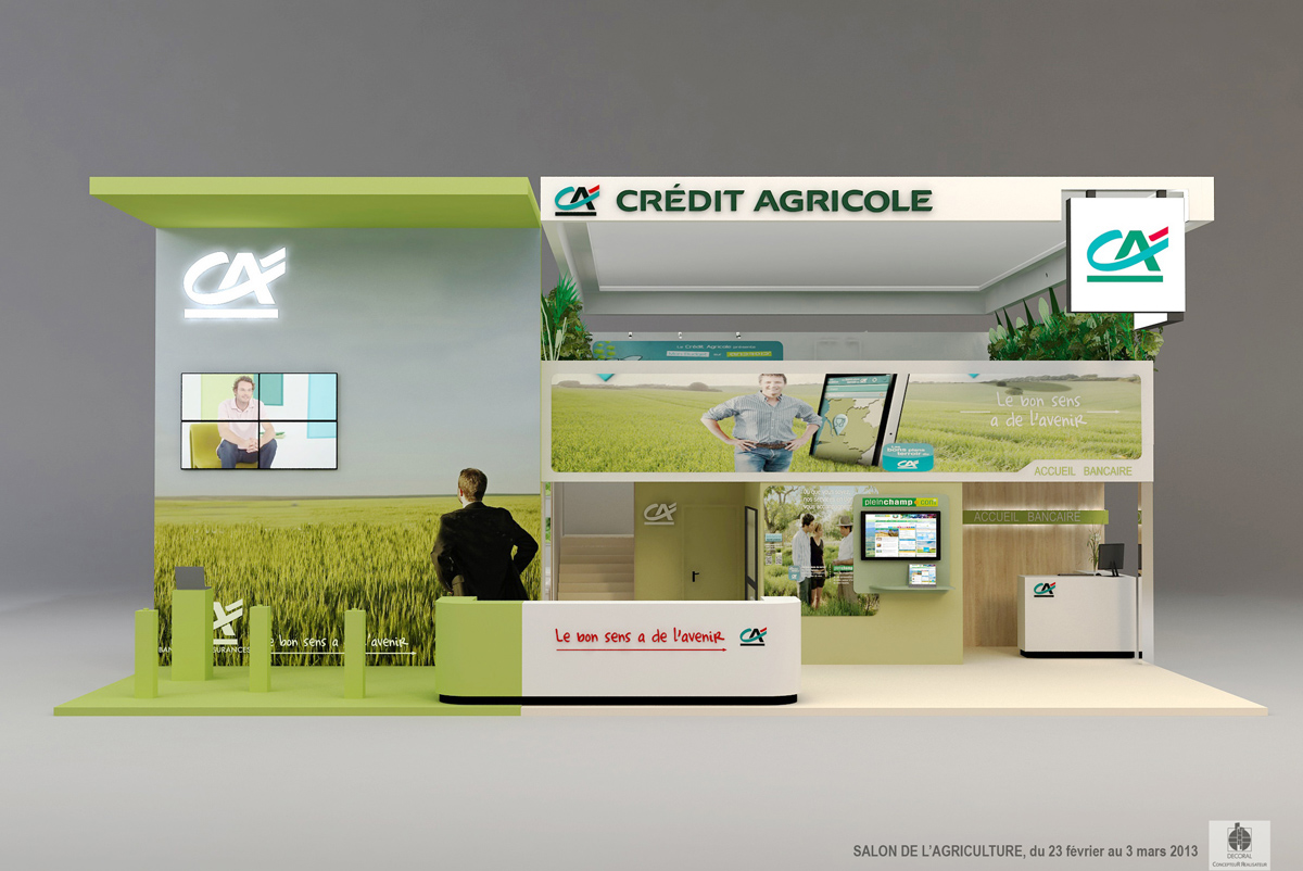 Le Salon De L Agriculture A Paris Stand Credit Agricole Salon De L Agriculture 2013 Paris On Behance