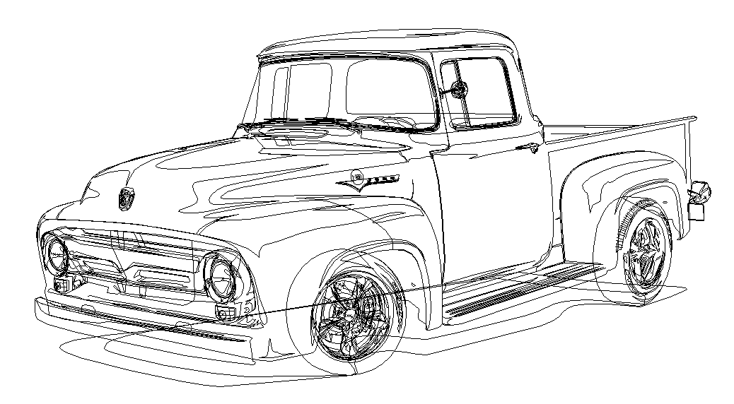1956 1960 ford truck f100 hood