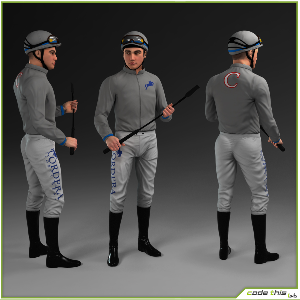 3d Models For Animation 3d Model Racehorse And Jockey Cg Code This Lab Srl