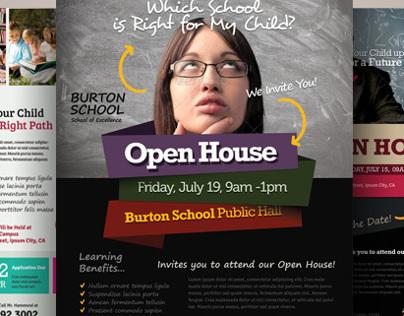 School Open House Flyers on Behance - open house flyer