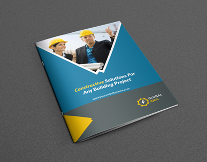 Construction Business Brochure Template on Behance - product brochure template